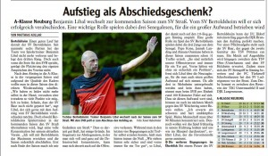 Vorschau SV Weichering - SV Bertoldsheim - Spielbericht - Bild