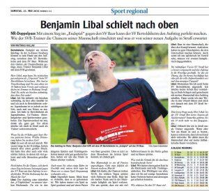Benjamin Libal schielt nach oben - Bild